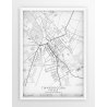 Plakat mapa TWARDOGÓRA - linia WHITE