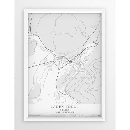 Plakat mapa LĄDEK ZDRÓJ - linia WHITE