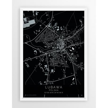 Plakat mapa LUBAWA- linia BLACK