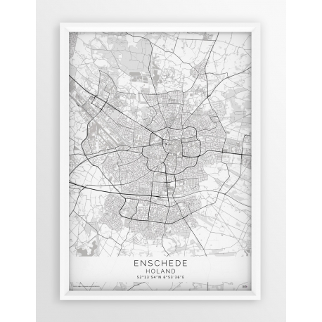 Plakat mapa ENSCHEDE - linia WHITE