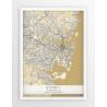 Plakat, mapa SYDNEY - linia BEIGE