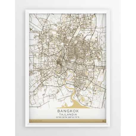 Plakat, mapa BANGKOK - linia BEIGE