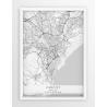 Plakat mapa CARDIFF - linia WHITE