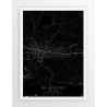 Plakat mapa WEJHEROWO- linia BLACK