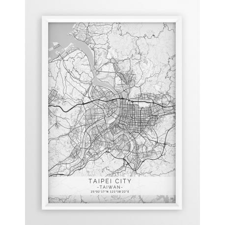 Plakat mapa TAIPEI - linia WHITE