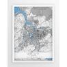 Plakat mapa TAIPEI - linia BLUE/GREY