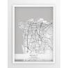 Plakat mapa BEIRUT - linia WHITE
