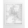 Plakat mapa LESZNO - linia WHITE
