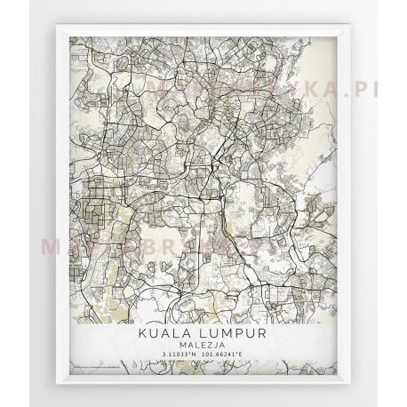 Plakat mapa KUALA LUMPUR- linia BEIGE