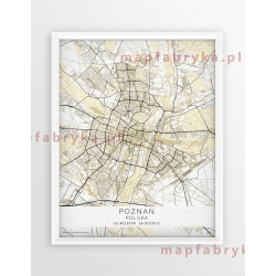 Plakat mapa POZNAŃ - linia BEIGE