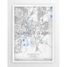 Plakat, mapa ZGORZELEC - linia BLUE/GRAY