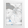 Plakat, mapa jELENIA GÓRA - linia BLUE/GRAY