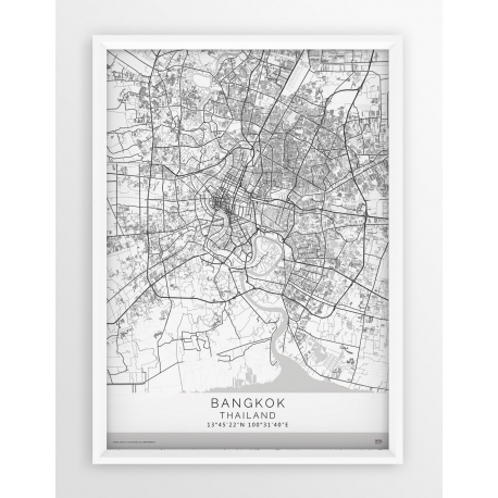 Plakat, mapa BANGKOK - linia WHITE