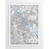 Mapa plakat WARSZAWA - linia B/G (SPECIAL)