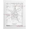 Plakat, mapa PSZCZYNA - linia WHITE