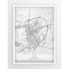 Plakat, mapa EŁK - linia WHITE