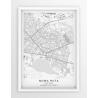 Plakat, mapa NOWA HUTA - linia SPECIAL