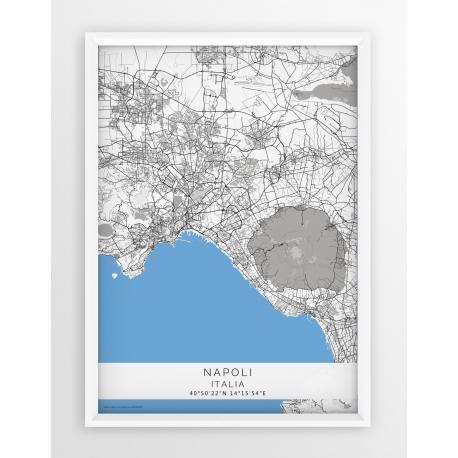 Plakat mapa NEAPOL - linia BLUE/GREY