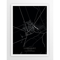 Plakat mapa LUBRANIEC- linia BLACK