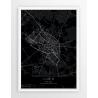 Plakat mapa LUBIN - linia BLACK