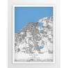 Plakat, mapa HAVANA - linia BLUE/GREY