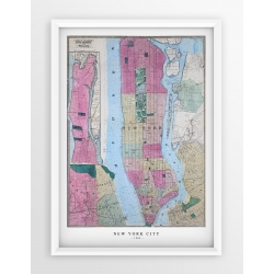 Stara mapa/plan NEW YORK CITY  (1864r) - reprint