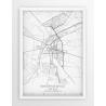 Plakat mapa SKIERNIEWICE - linia WHITE