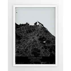 Plakat mapa EDYNBURGH - linia BLACK