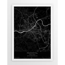 Plakat mapa PRZEMYŚL - linia BLACK