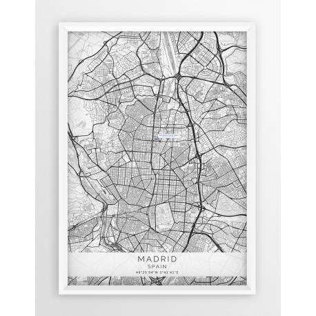Mapa plakat REAL MADRYT - lokalizacja w linii White
