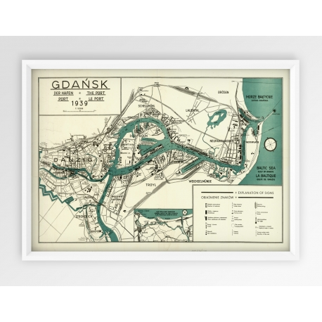 Stara mapa  - plakat GDAŃSK 1939r