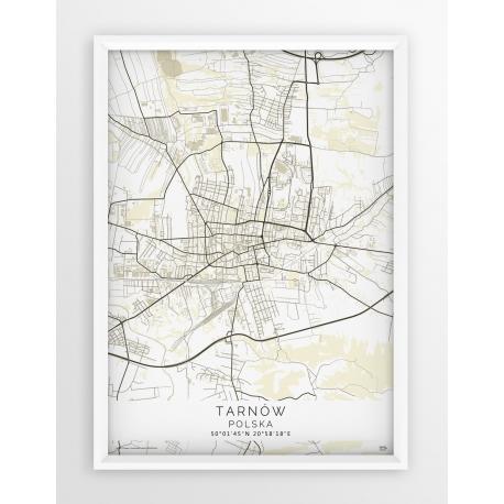 Plakat mapa TARNÓW - linia BEIGE