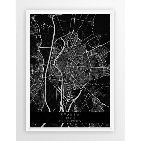 Plakat mapa SEVILLA - linia BLACK