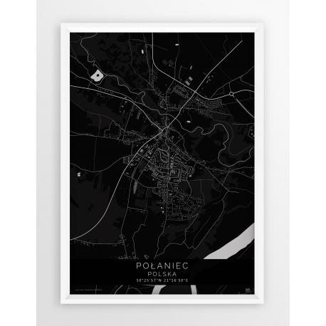 Plakat mapa POŁANIEC - linia BLACK