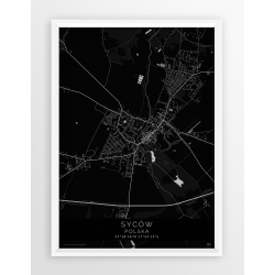 Plakat mapa SYCÓW - linia BLACK