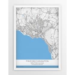 Plakat mapa Friedrichshafen - linia BLUE/GRAY