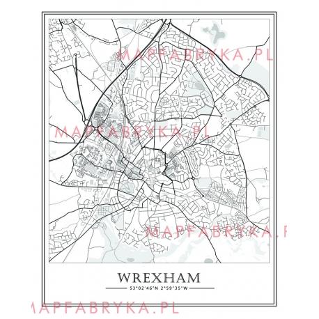 Plakat, mapa WREXHAM - linia SPECIAL