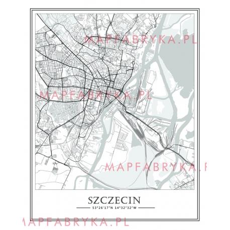 Plakat, mapa SZCZECIN - linia SPECIAL