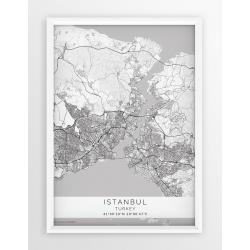 Plakat mapa STAMBUŁ - linia WHITE