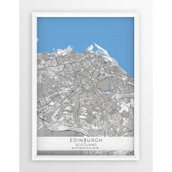 Plakat mapa EDYNBURGH - linia BLUE/GREY