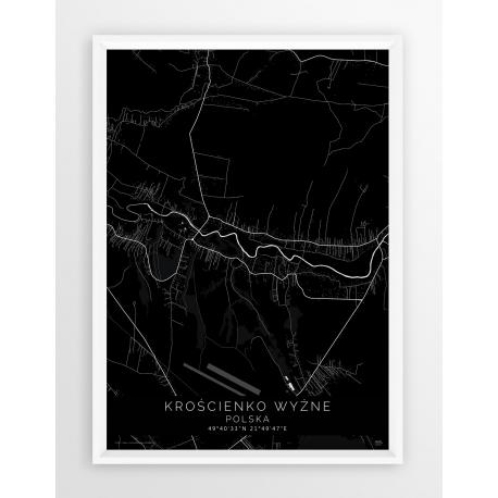 Plakat mapa KROŚCIENKO - linia BLACK