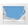 Plakat mapa ZATOKA GDAŃSKA - linia BLUE/GREY