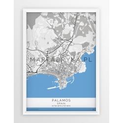 Plakat, mapa PALAMOS - linia GREY/BLUE