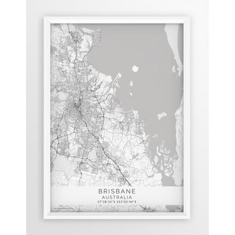 Plakat mapa BRISBANE - linia WHITE