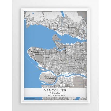 Plakat mapa VANCOUVER - linia BLUE/GREY