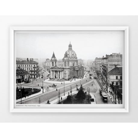 Plakat fotografia - WARSZAWA / PLAC TRZECH KRZYŻY / 1934r