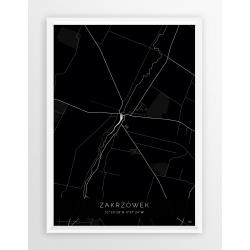 Plakat mapa ZAKRZÓWEK - linia BLACK