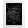 Plakat mapa LWÓW - linia BLACK