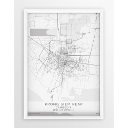 Plakat mapa KRONG SIEM REAP - linia WHITE