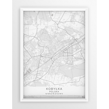 Plakat mapa KOBYŁKA - linia WHITE